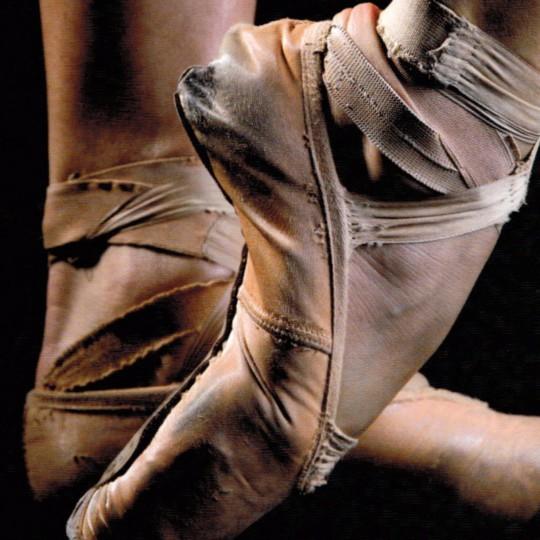 Poster mit Ballettfüßen